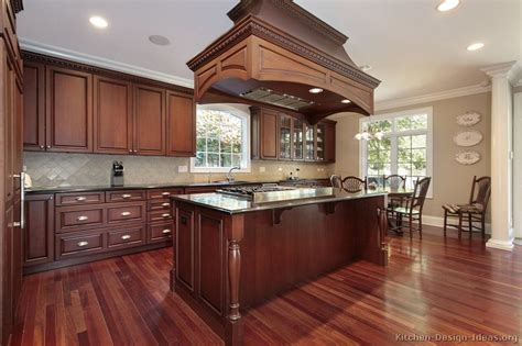 pictures kitchens traditional dark wood kitchens cherry color page
