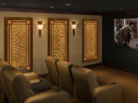 home theater design concepts art deco acoustic panels styles art deco theater designs