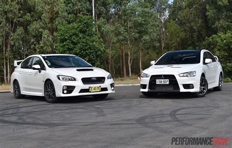 2016 Mitsubishi Lancer Evolution Vs Subaru Wrx Sti