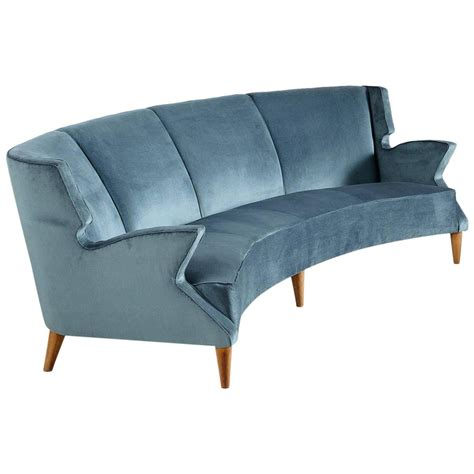 Large Italian Four Seat Curved Sofa For Sale At 1stdibs Large Curved Sofa