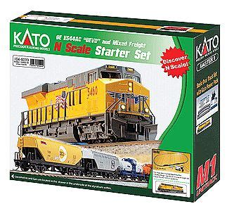 kato official model railroad layout guide book 25 011 ge es44ac gevo mixed freight starter set union pacific