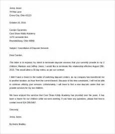 daycare cover letter daycare termination letter 9 free word pdf documents