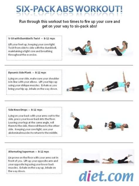 follow along 6 pack abs workout diet