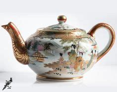 Yami Porcelain Cupping Bowl Orange vintage japanese geisha porcelain 5 small plates 5