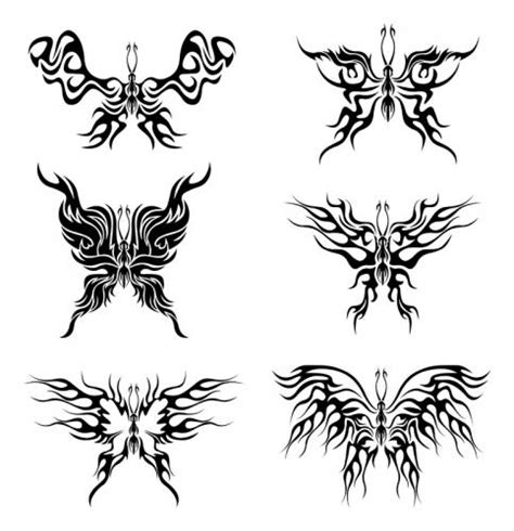 small tribal butterfly tattoos tribal butterfly with pictures to pin on