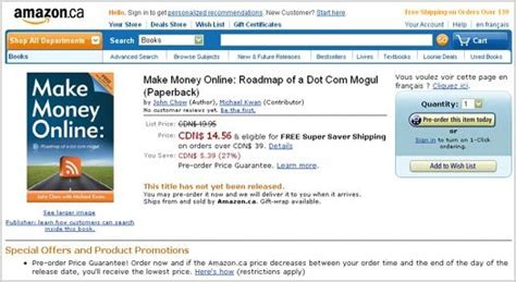 Make Money Order Online - my make money online book hits one million pre orders on amazon 187 beyond the rhetoric