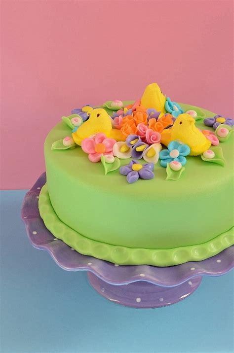 peeps easter cake cakecentralcom