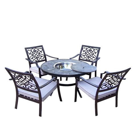pit chat set oakland living 5 seating patio