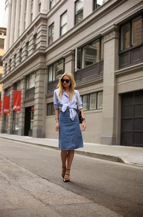 25 ways to wear denim skirts 2018 fashiontasty
