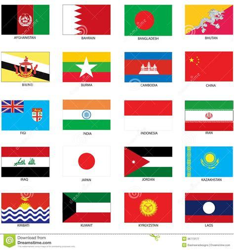 flags of the world red white black bandiere asiatiche fotografia stock libera da diritti
