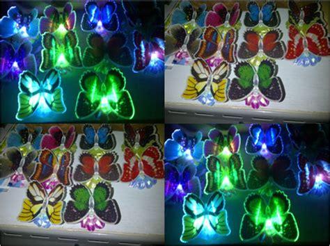 best seller anting tusuk grosir bentuk kupu kupu anting pesta new lu kupu led dengan bunga 150 barang unik china