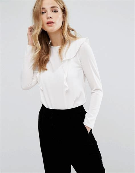 Sleeve Blouse New Look by New Look New Look Frill Front Flare Sleeve Blouse
