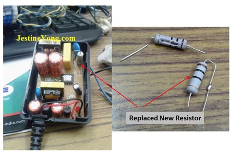power supply resistor how to repair 12vdc output power adapter electronics repair and technology news