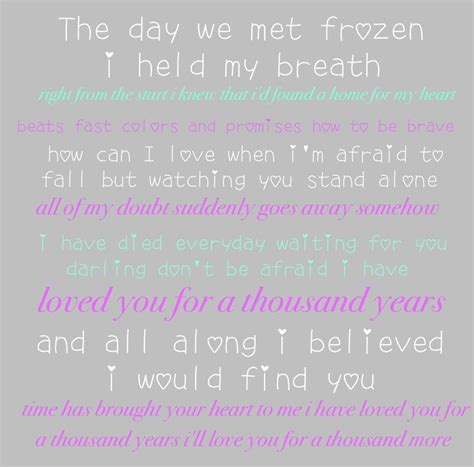 years lyrics 1000 images about a thousand years on jade