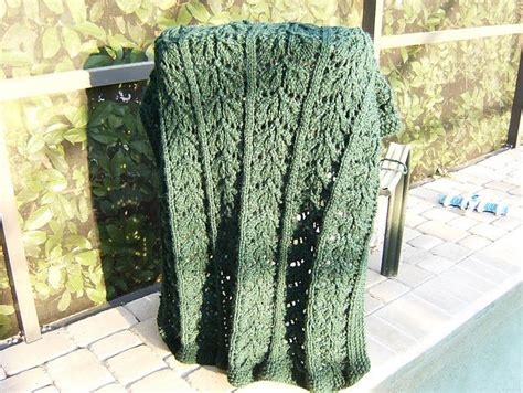 leaf pattern afghan 17 best images about afghan on pinterest cable ravelry