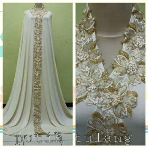 Mukena Silk Mewah Brukat Premium Putih mukena dubai 15 bajuindia bajuindia
