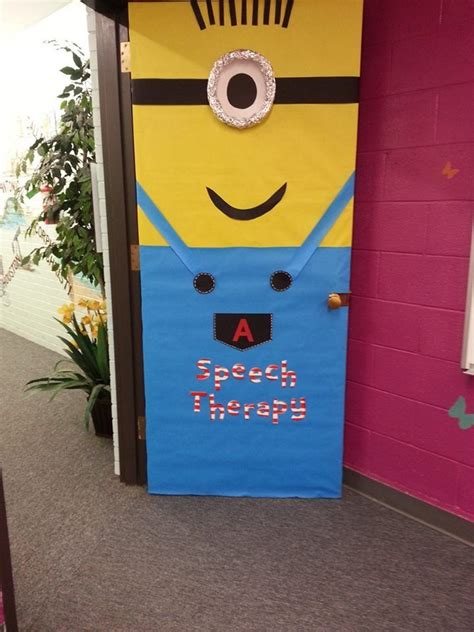 Minion Door Decoration by Minion School Door School Stuff School
