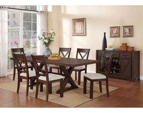 7 dining room set claira 7 dining room set rustic brown s