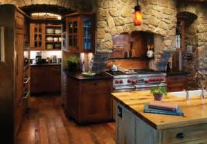 Rustic Country Kitchen Design Add Some Rustic Charm To Your Kitchen With Stone Walls