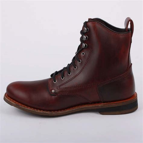 leather boots mens caterpillar orson mens laced leather boots oxblood