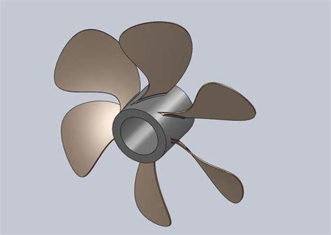 solidworks tutorial propeller propeller fan solidworks 3d cad model grabcad
