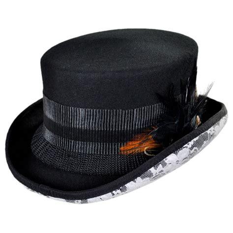Top Hantshop white lace steunk top hat top hats