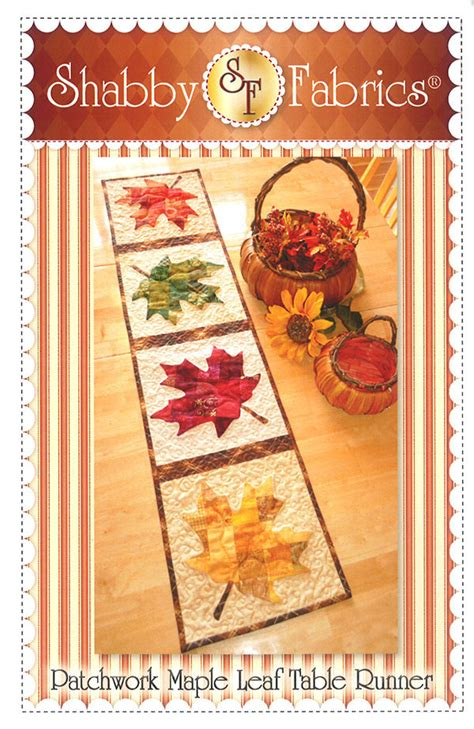 patchwork maple leaf table runner 721762486320