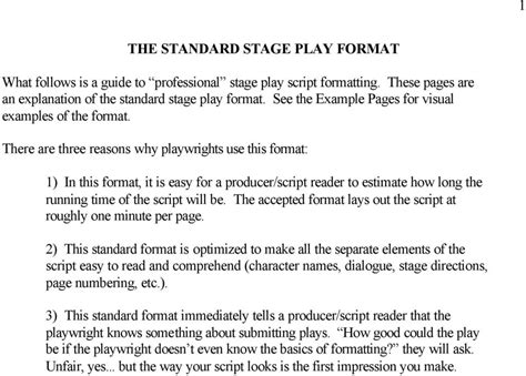 stage play format template screenplay script format related keywords suggestions