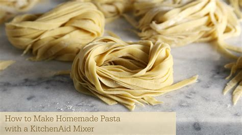 Handmade Noodles Recipe - how to make pasta with kitchenaid mixer sober julie