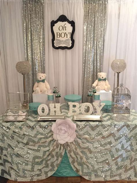 Ideas For Baby Boy Showers by Mint And Silver Baby Shower Ideas Babies