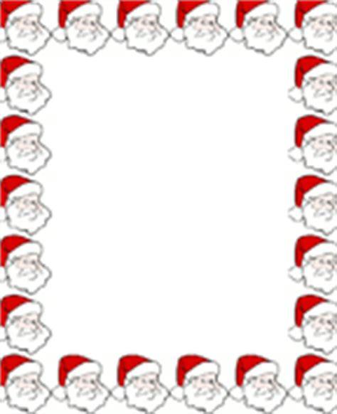 printable santa border paper free christmas border paper free christmas stationary