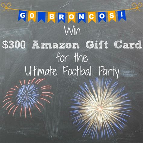 Track Amazon Gift Card - broncos cocktail recipe 300 amazon gift card giveaway