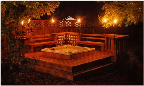 backyard hot tub outdoor hot tub rooms landscaping gardening ideas