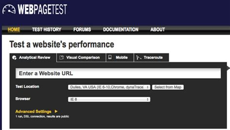 web page test tools to test your page speed b unlimited inc
