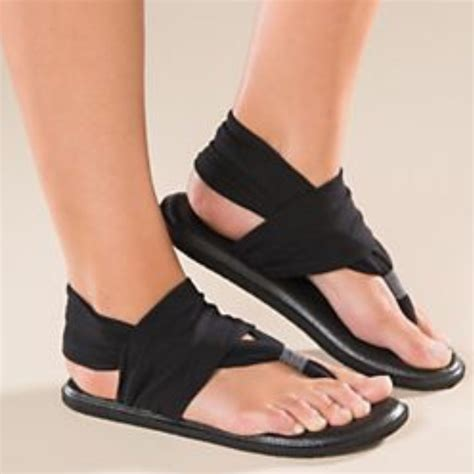 Shoes With Mat Soles by Sanuk Sanuk Black Sling Wrap Mat Sandals Shoes 8 From Glitzy Suggested User S Closet On