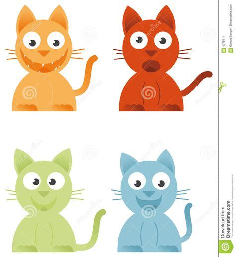clipart gatti 4 gatti illustrazione vettoriale illustrazione di fumetto