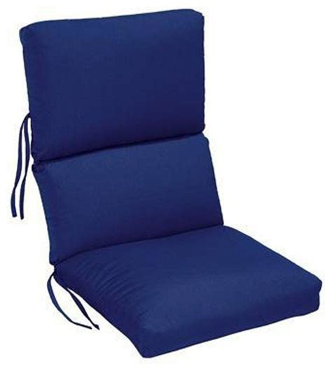 High Back Patio Chair Cushions Home Decorators Collection Cushions Blue Sunbrella High