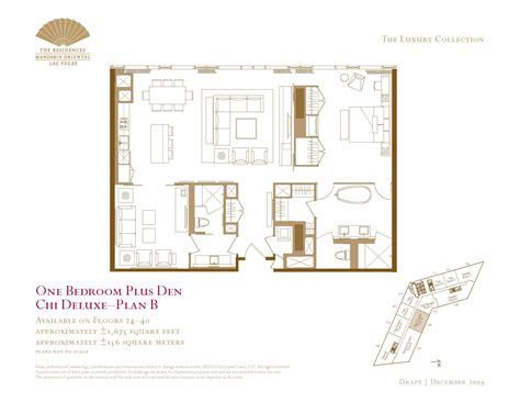 las vegas floor plans one bedroom plus den floor plans the mandarin las vegas the mandarin condos