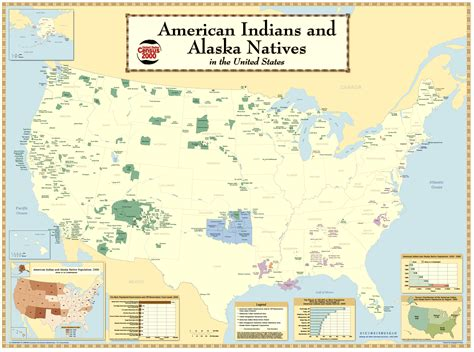 map of american tribes indian reservations in the us today humanities 7