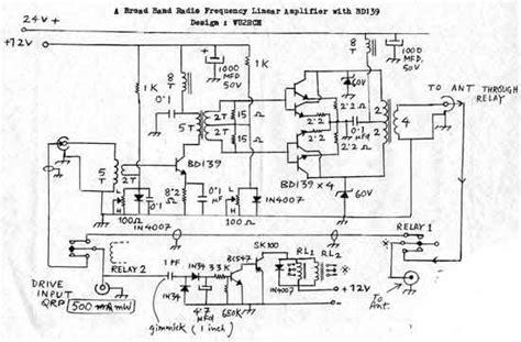 transistor linear lifier a broadband rf lifier using bd139 transistors
