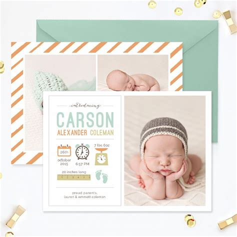best 25 birth announcement template ideas that you will