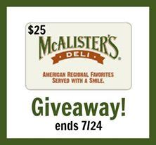 Mcalister S Deli Gift Card - mcalister s deli gift card giveaway