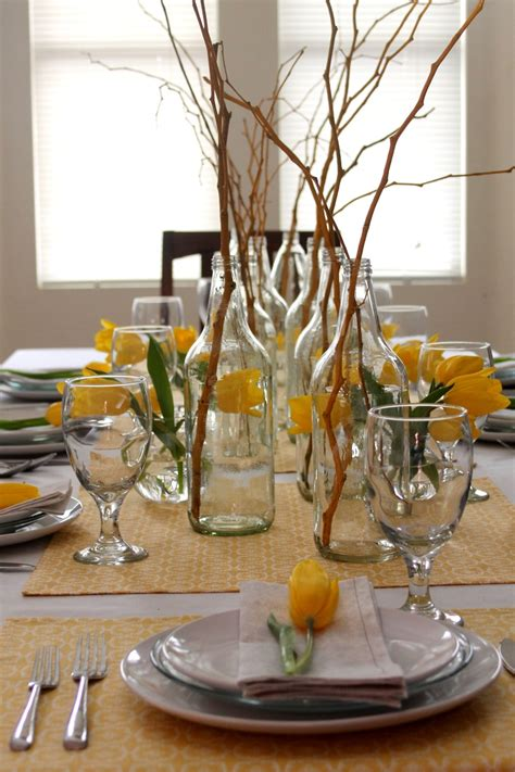 yellow branches simple decor ideas tablescapes table settings and