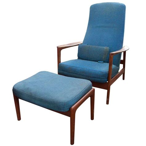 armchairs and ottomans pair danish modern armchair and ottoman by dux at 1stdibs