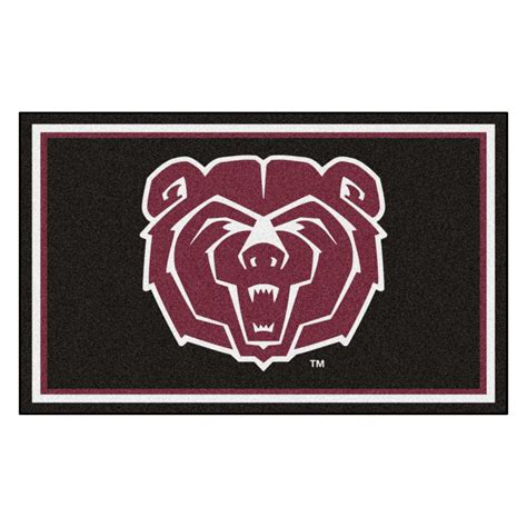 mizzou rug fanmats ncaa missouri state black 6 ft x 4 ft indoor area rug 20222 the home depot