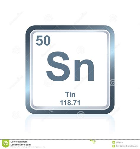 Tin On The Periodic Table by Chemical Element Tin From The Periodic Table Stock
