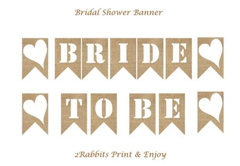 Balloonable Banner Flag Bridal Shower To Be to be burlap bunting flags bridal shower banner photo