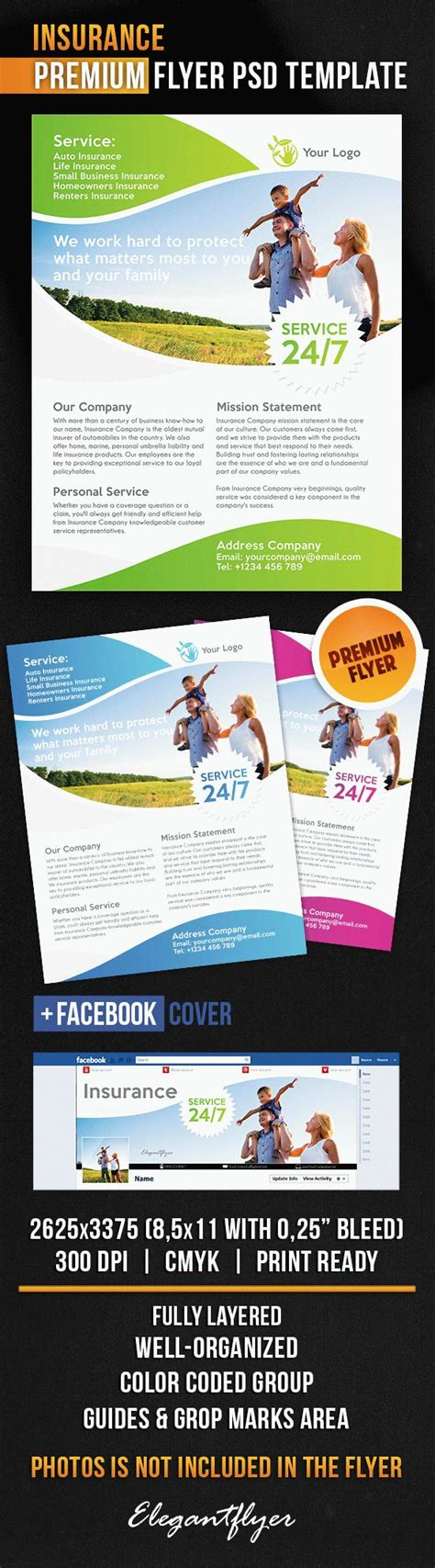 Flyer Template For Insurance By Elegantflyer Insurance Flyer Templates