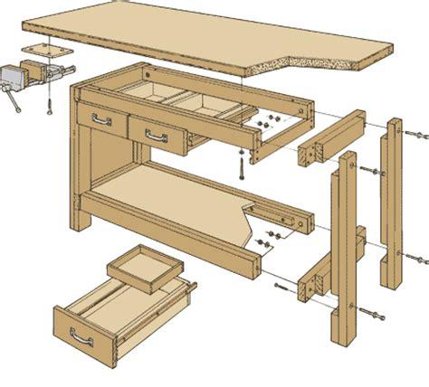 simple work bench plans simple weekend workbench plan werkbank pinterest