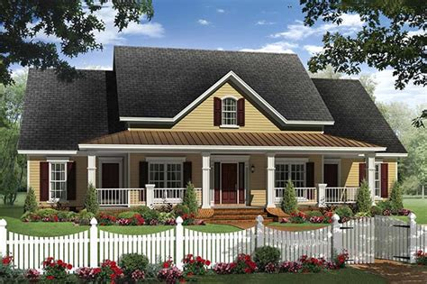 country home plans with front porch farmhouse style house plan 4 beds 2 5 baths 2336 sq ft